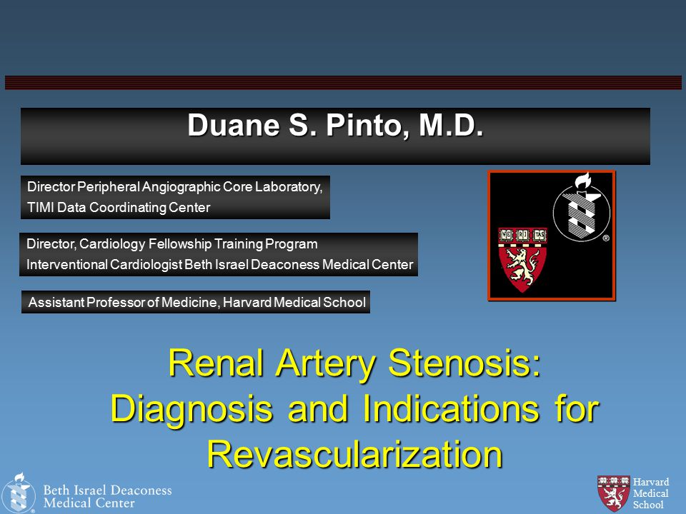 Harvard Medical School Duane S. Pinto, M.D.