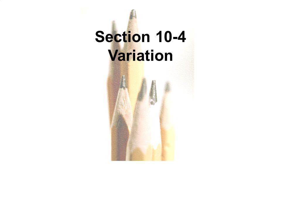 Slide Slide 3 Section 10-4 Variation