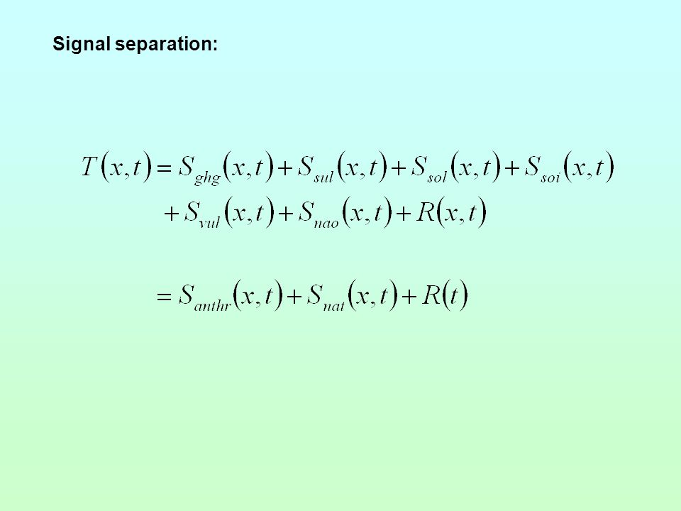Signal separation: