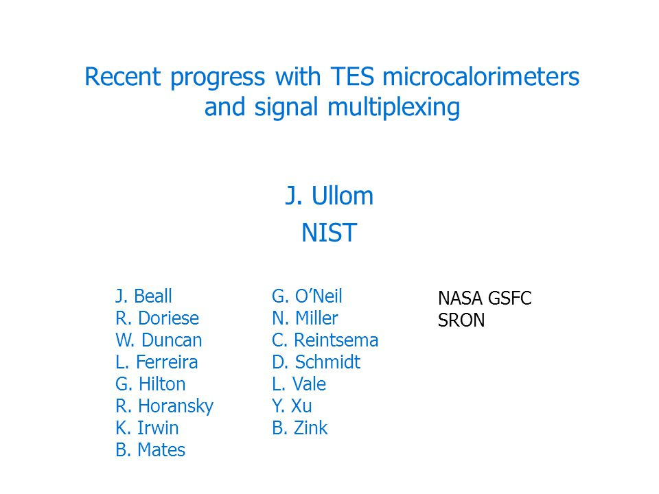 Recent progress with TES microcalorimeters and signal multiplexing J.