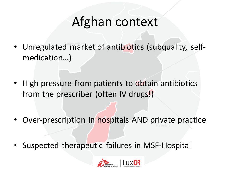 MSF-Afghanistan context: Poor therapeutic outcomes… In Lashkar-Gah hospital (Helmand): Unexplained high paediatric mortality rates Lashkar Gah Hospital (Helmand)