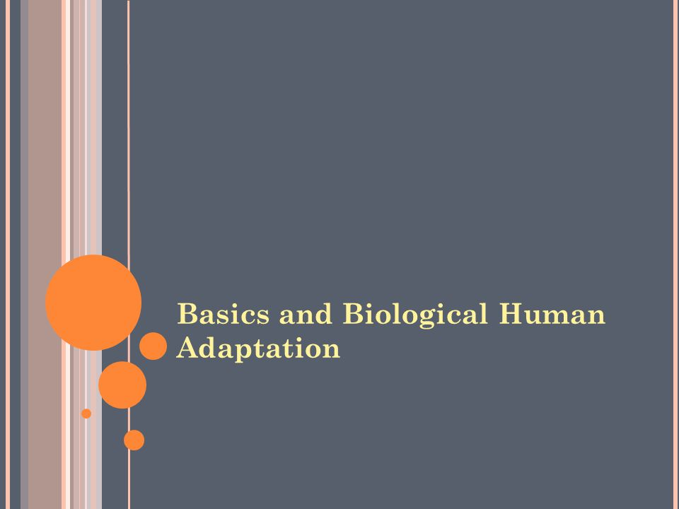 Basics and Biological Human Adaptation