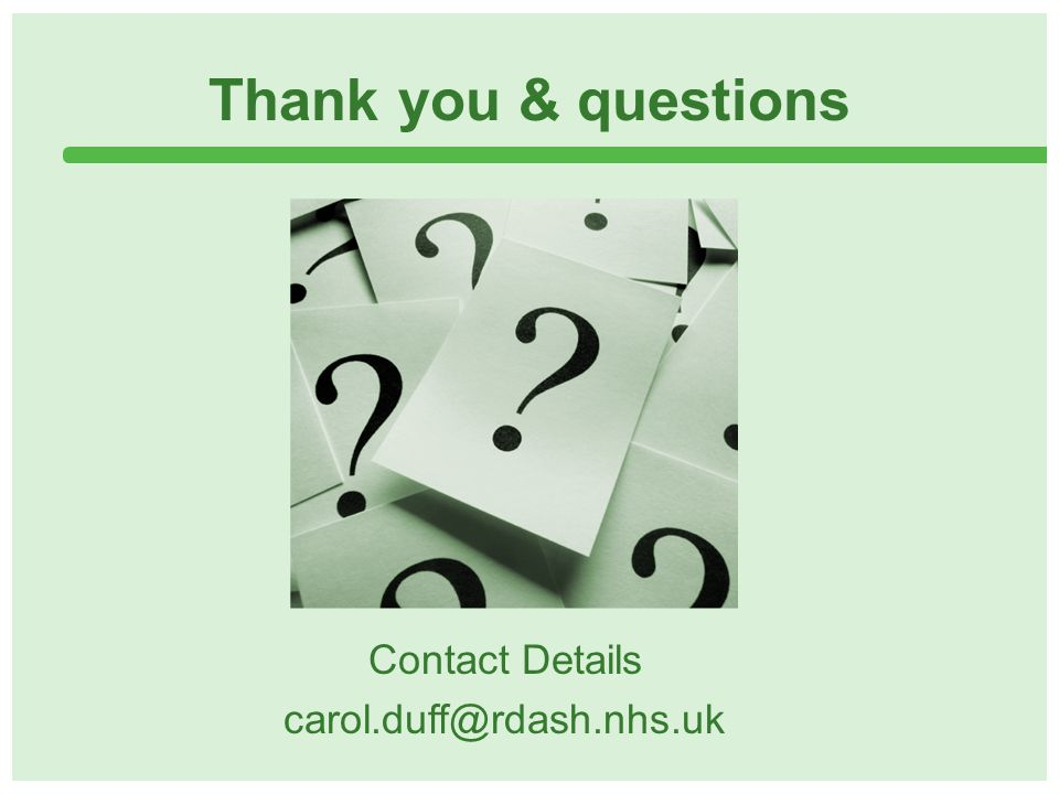Thank you & questions Contact Details