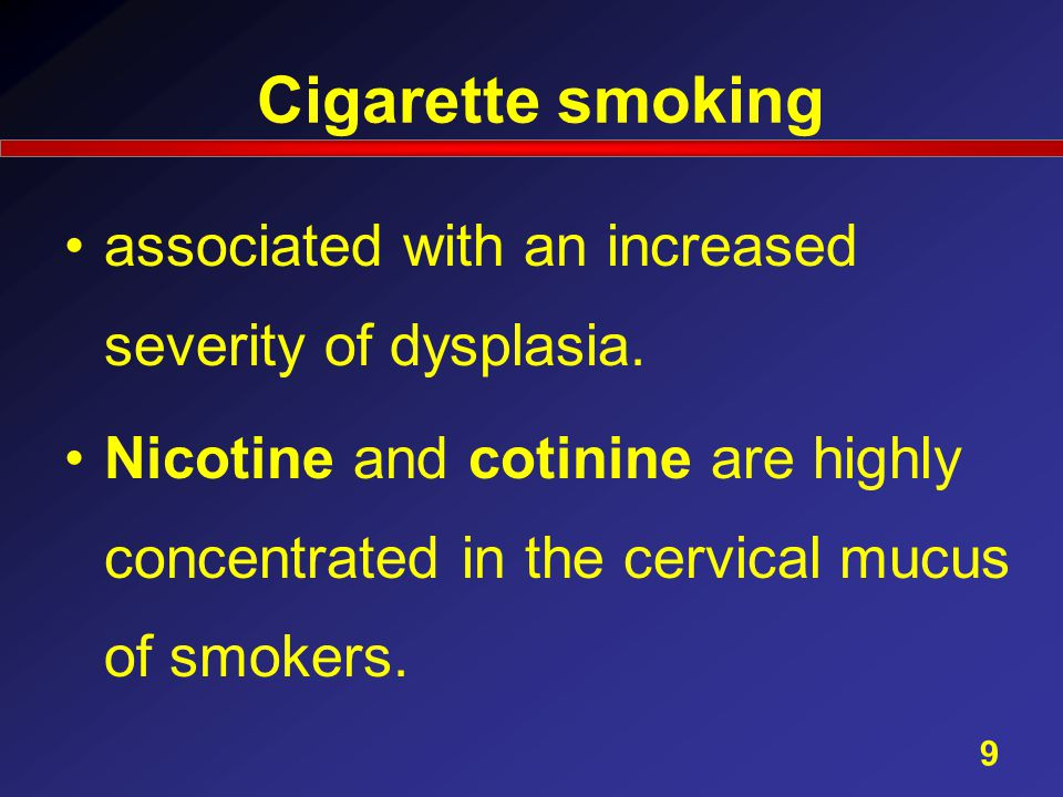 Cigarette smoking associated with an increased severity of dysplasia.