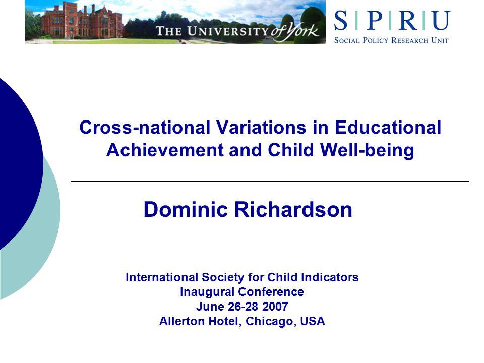 Background  What drives educational achievement.