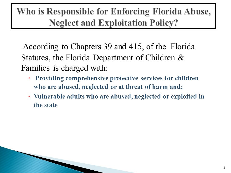 Department of Children and Families: http://www.dcf.state.fl.us/programs/aps/Rep orting.shtml Department of Children and Families: http://www.dcf.state.fl.us/programs/aps/Rep orting.shtml  Department of Elder Affairs: http://elderaffairs.state.fl.us/doea/abuse_pre vention.php Department of Elder Affairs: http://elderaffairs.state.fl.us/doea/abuse_pre vention.php  To Learn More, Call: 1-800-96-ELDER (1-800-963-5337) 35