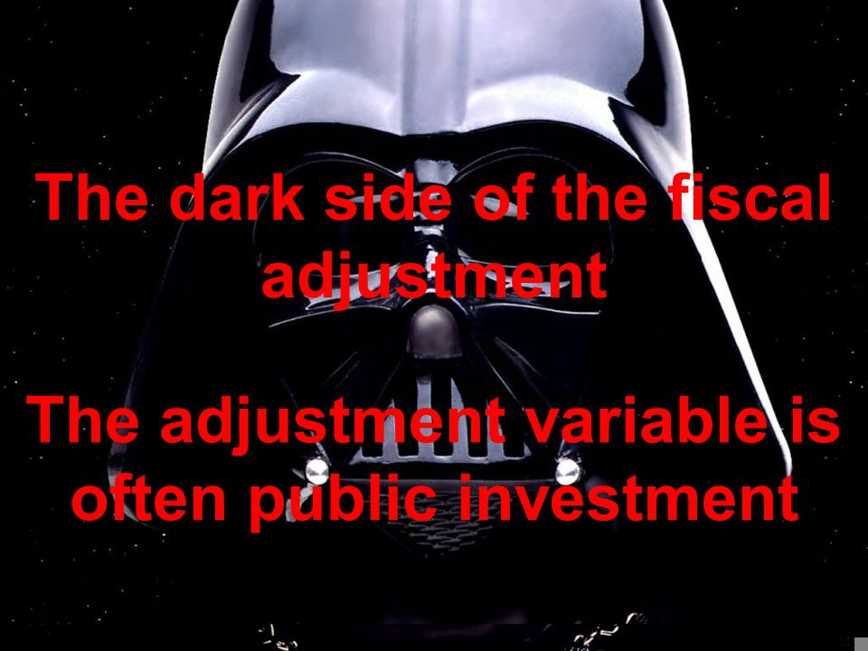 The adjustment variable is often public investment The dark side of the fiscal adjustment