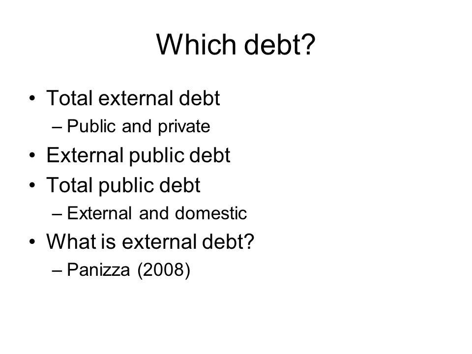 Which debt.