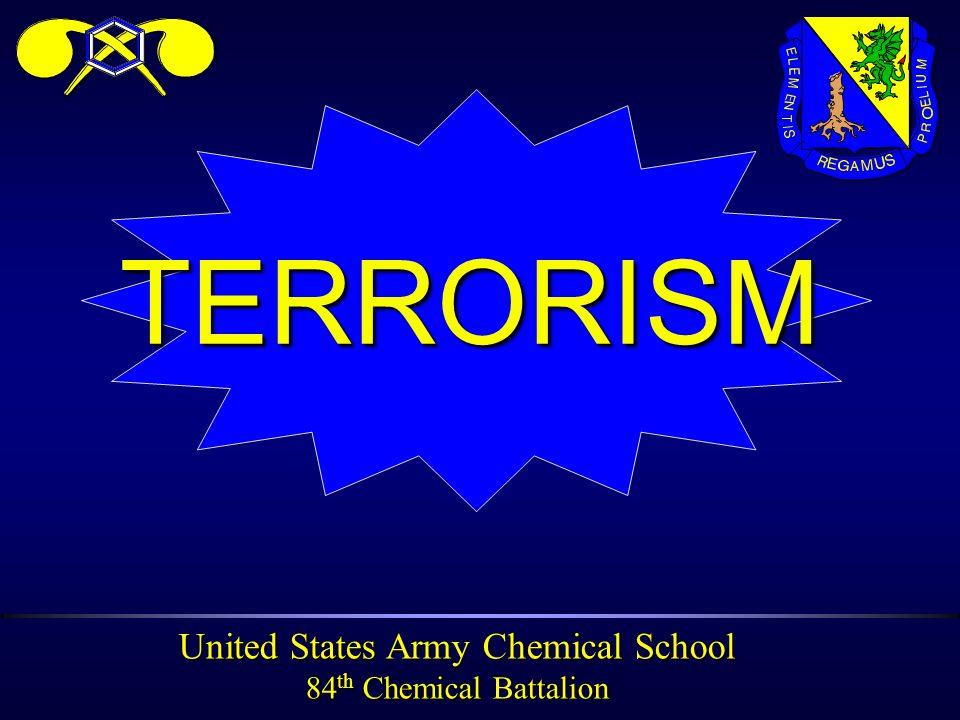 United States Army Chemical School 84 th Chemical Battalion TRANSITTRANSIT WEAK LINK