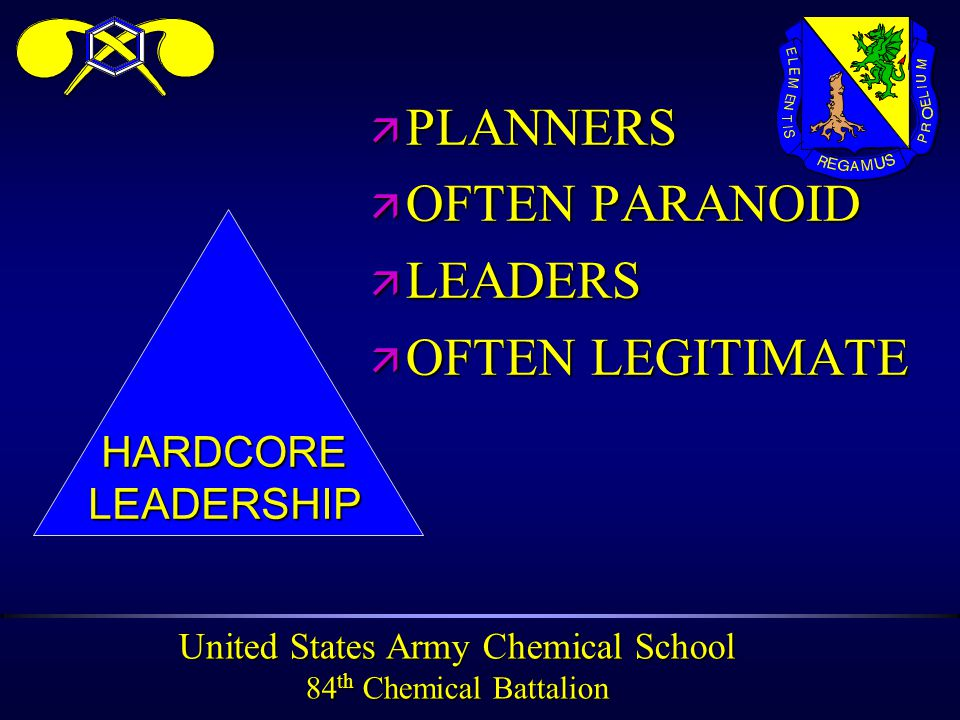 United States Army Chemical School 84 th Chemical Battalion PERSONAL PROTECTION At all times….