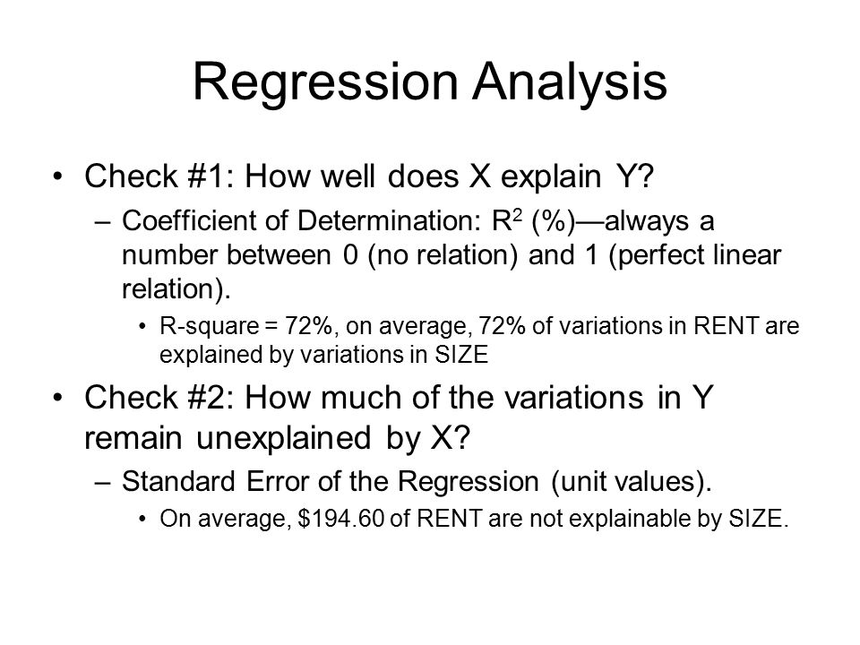 Regression Analysis Check #3: (hypothesis test) Is the linear model statistically significant .
