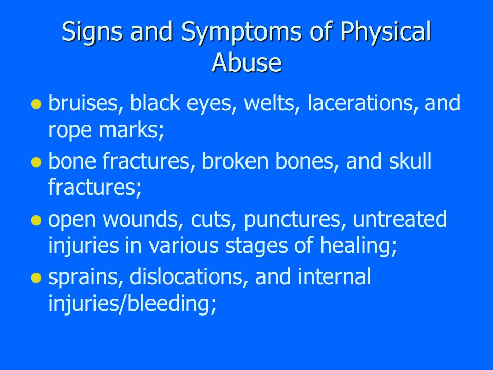 Abuse of Vulnerable Adults Physical Abuse Sexual Abuse Emotional Abuse Abandonment Financial Exploitation Self-Neglect