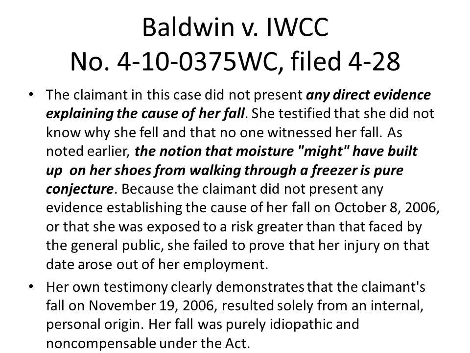 Baldwin v. IWCC No.