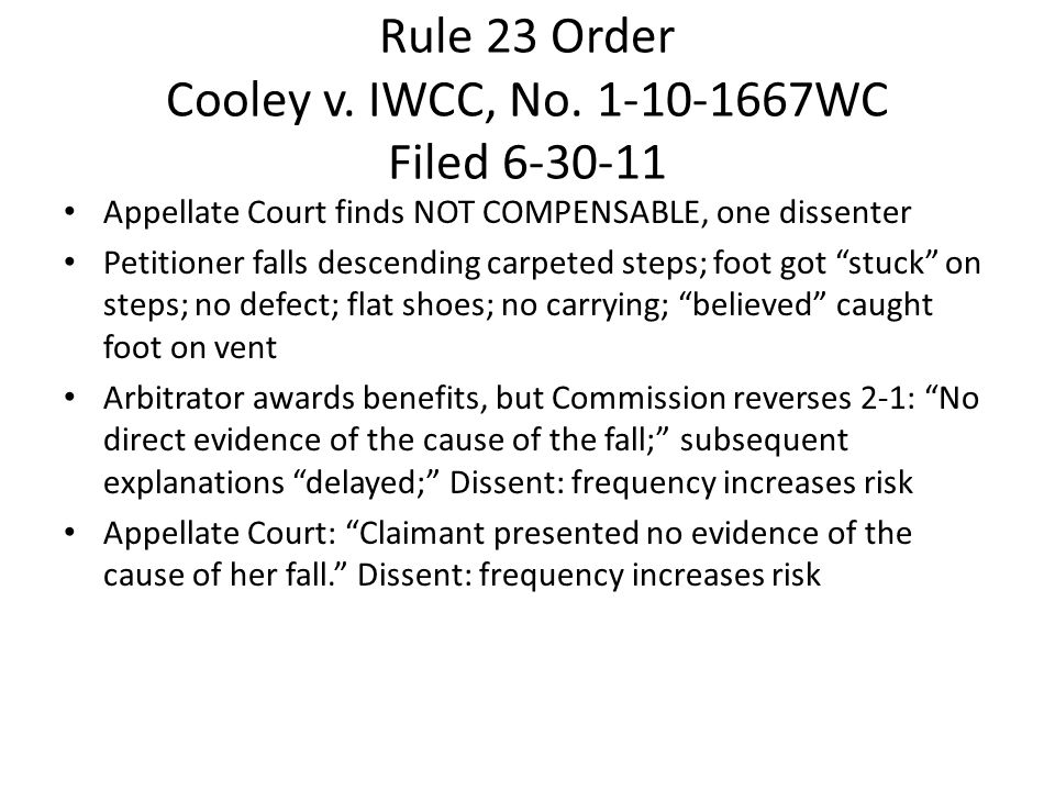 Rule 23 Order Cooley v. IWCC, No.