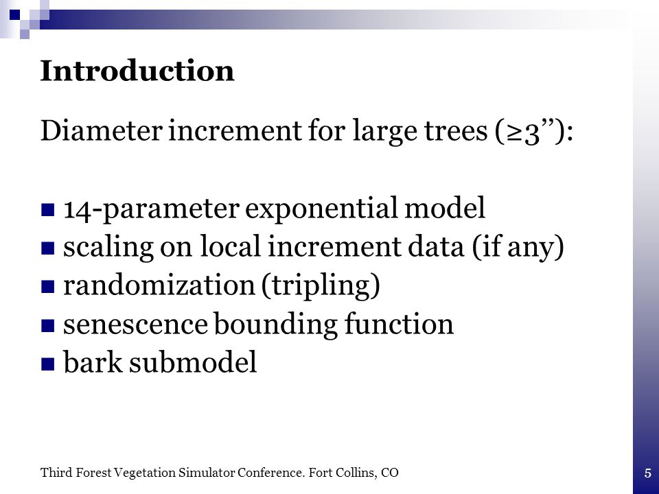 Third Forest Vegetation Simulator Conference.