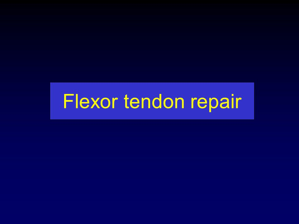Flexor tendon repair