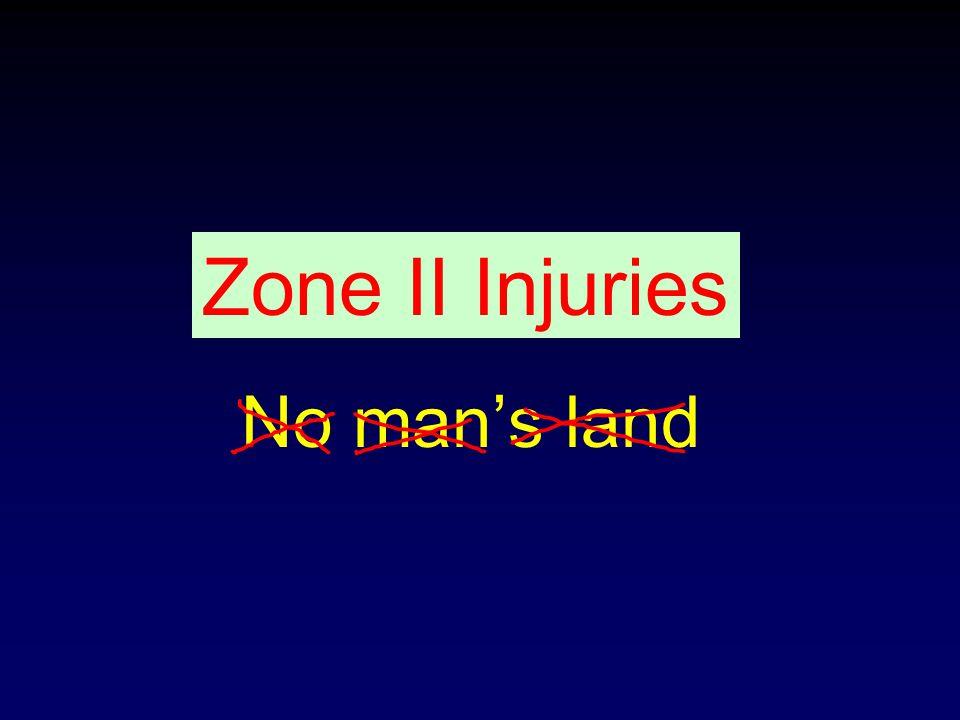No man's land Zone II Injuries