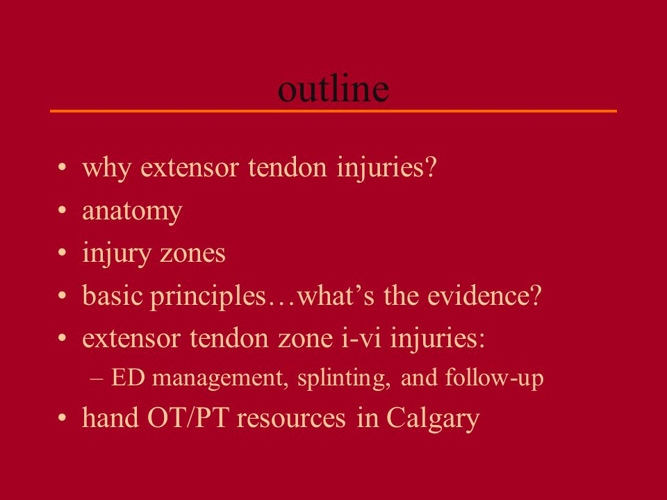 why extensor tendon injuries.