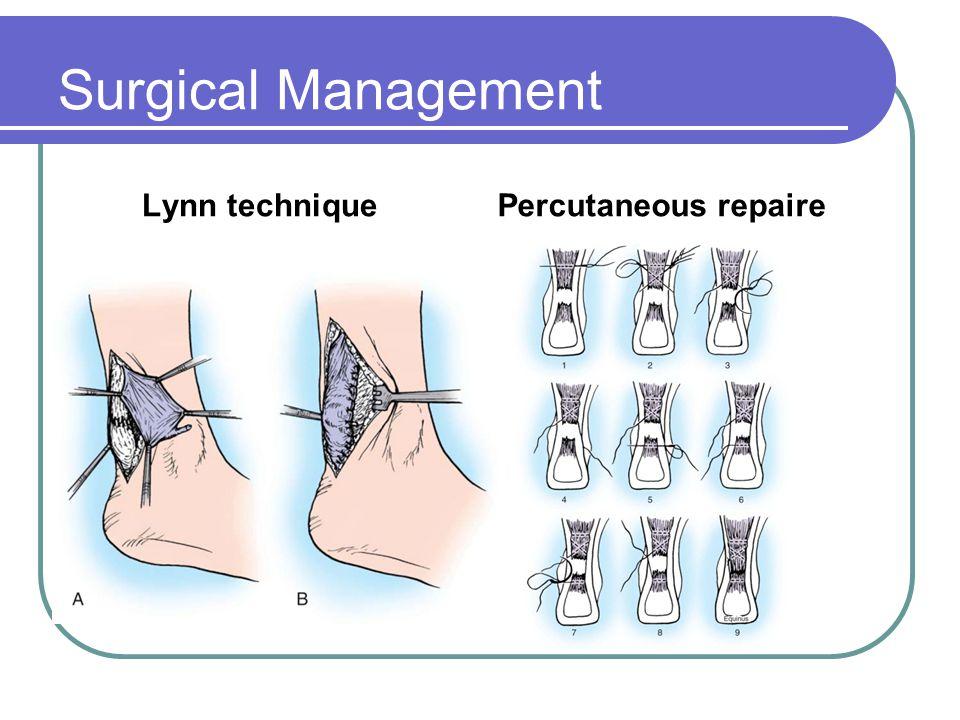 Surgical Management Lynn techniquePercutaneous repaire