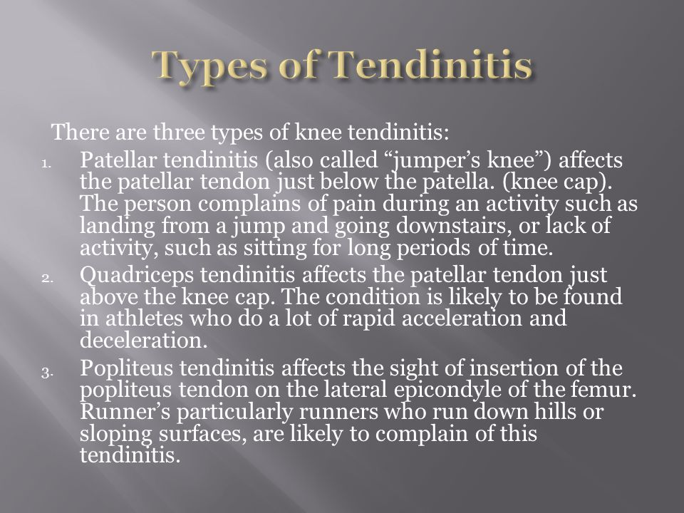 Tendinitis can affect four different tendons of the foot  The achilles tendon  The posterior tibial tendon  The anterior tibial tendon  The peroneal tendon Symptoms of achilles tendinitis are pain and tenderness anywhere along the back of the tendon, limited ankle flexibility, redness or heat over the painful area, a nodule growth forming on the tendon and a crackling sound that can be heard when the ankle moves.