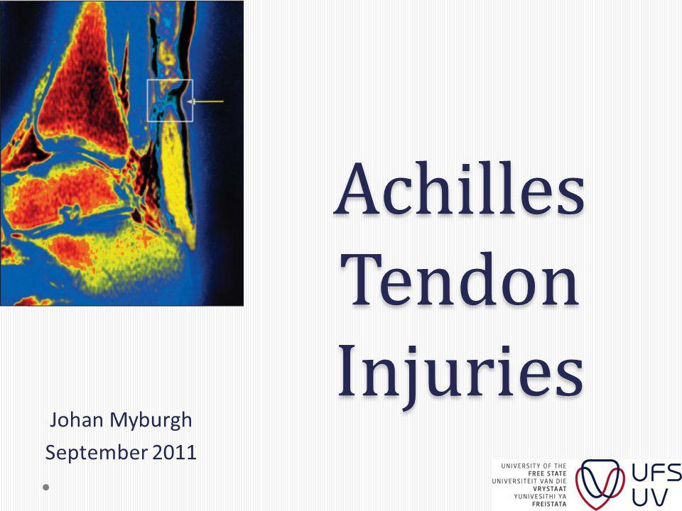 Achilles Tendon Injuries Johan Myburgh September 2011