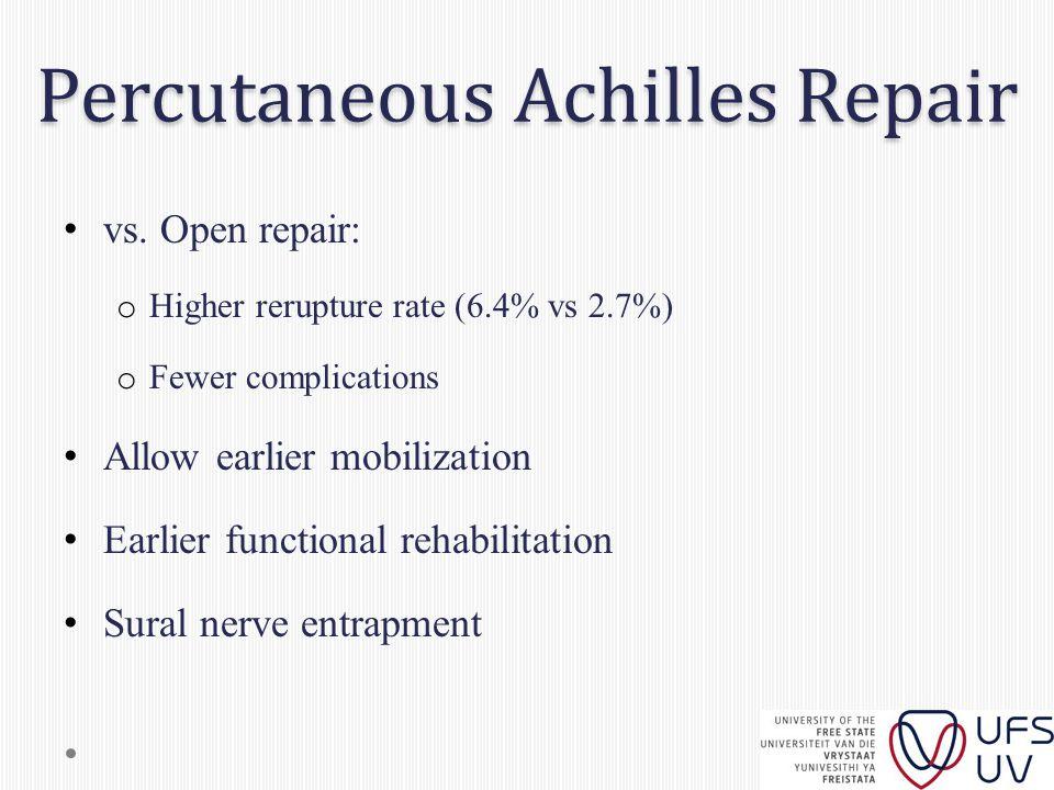 Percutaneous Achilles Repair vs.