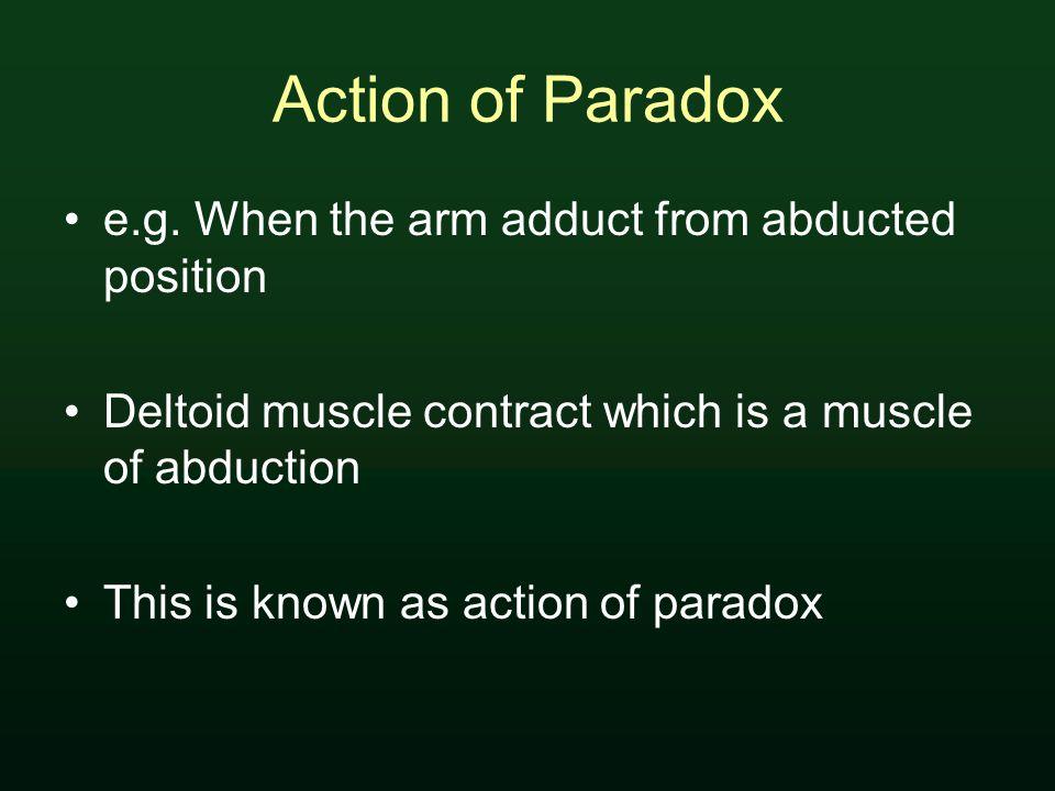 Action of Paradox e.g.