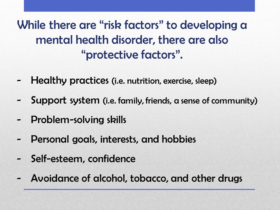 Common Mental Health Disorders ADD/ ADHD Attention Deficit Disorder/ Attention Deficit and Hyperactivity Disorder Anxiety Disorders PTSD (post-traumatic stress disorder) OCD (obsessive compulsive disorder) Phobias Bipolar Disorder - formerly called manic depression, is a mental illness that brings severe high and low moods and changes in sleep, energy, thinking, and behavior.