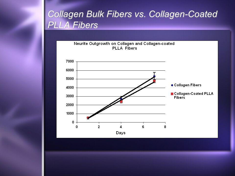 Collagen Bulk Fibers vs. Collagen-Coated PLLA Fibers