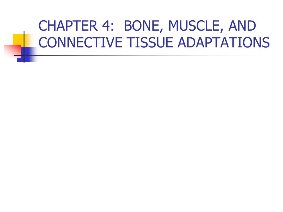 CHAPTER 4: BONE, MUSCLE, AND CONNECTIVE TISSUE ADAPTATIONS