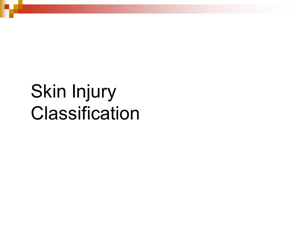 Skin Injury Classification