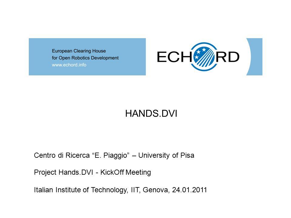Project Hands.DVI - KickOff Meeting Italian Institute of Technology, IIT, Genova, 24.01.2011 HANDS.DVI Centro di Ricerca E.