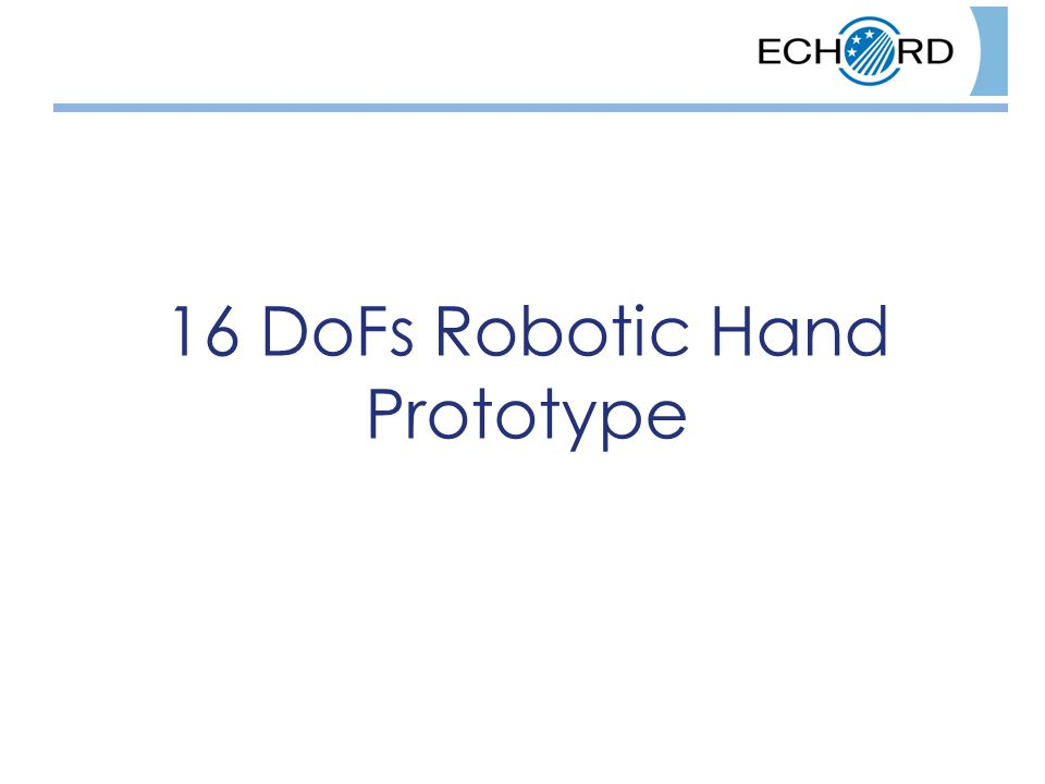 16 DoFs Robotic Hand Prototype