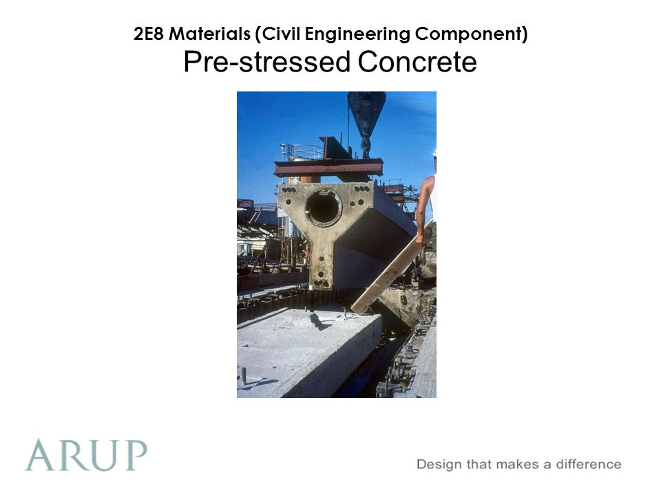 2E8 Materials (Civil Engineering Component) Pre-stressed Concrete