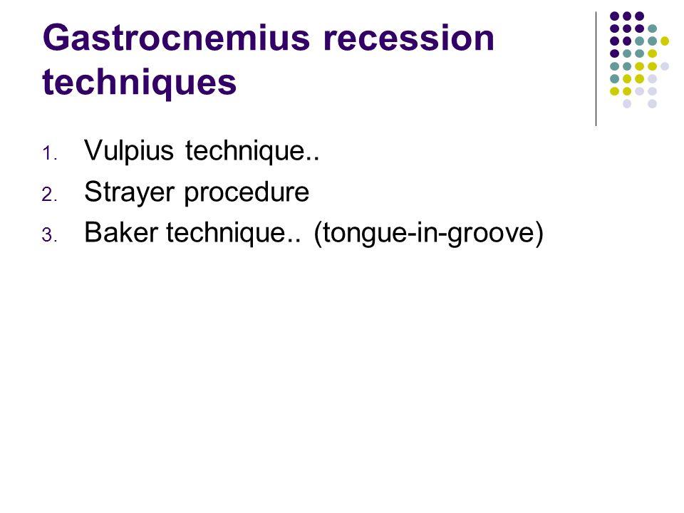 Gastrocnemius recession techniques 1.Vulpius technique..