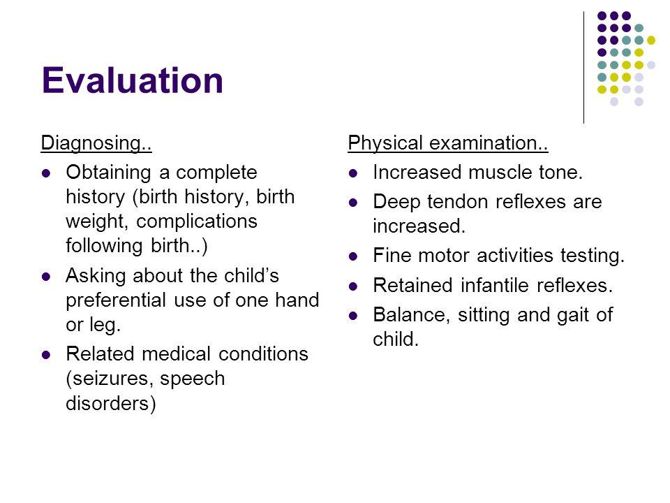 Evaluation Diagnosing..