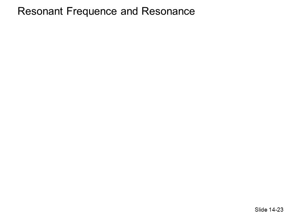 Slide 14-23 Resonant Frequence and Resonance