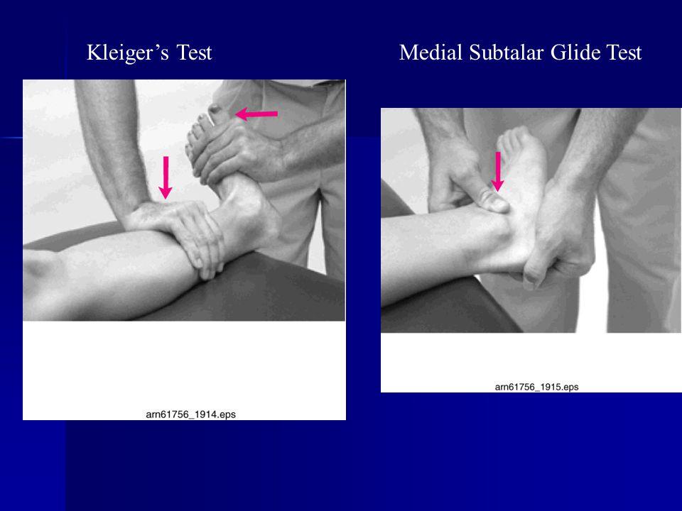 Kleiger's TestMedial Subtalar Glide Test