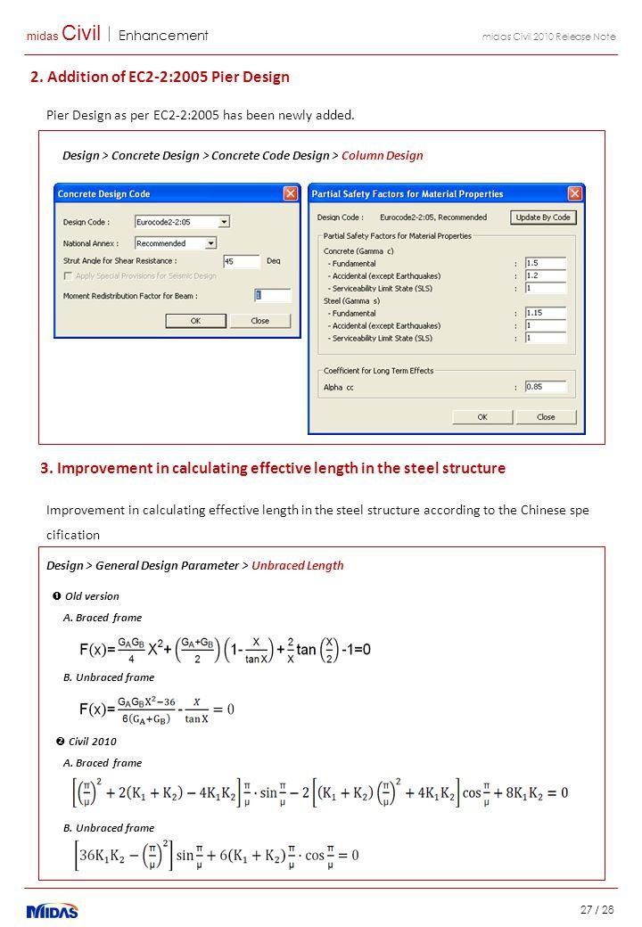 midas Civil Enhancement 27 / 28 midas Civil 2010 Release Note 2.