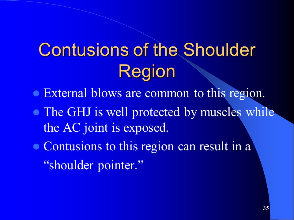 """34 Biceps Tendon Problem First Aid: This qualifies as an """"overuse"""" type of injury -- no first aid procedures. Emphasis should be on prevention through"""