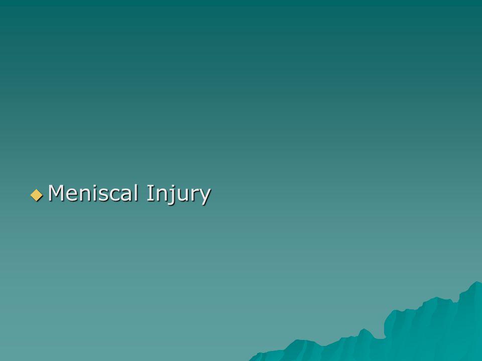  Meniscal Injury