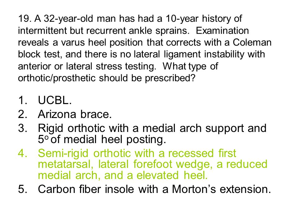 37.A 46-year-old woman has had plantar heel pain for the past 5 months.