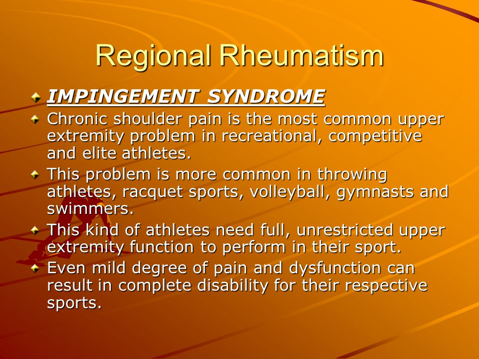 Regional Rheumatism Young Adult Young adults have the longest list of possible diagnoses.
