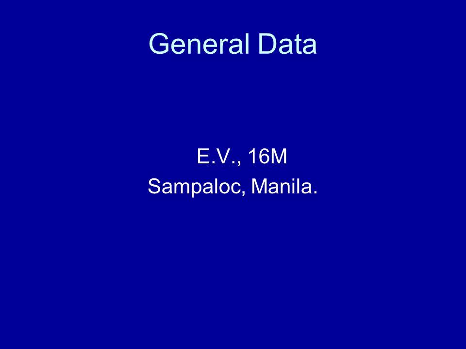 General Data E.V., 16M Sampaloc, Manila.