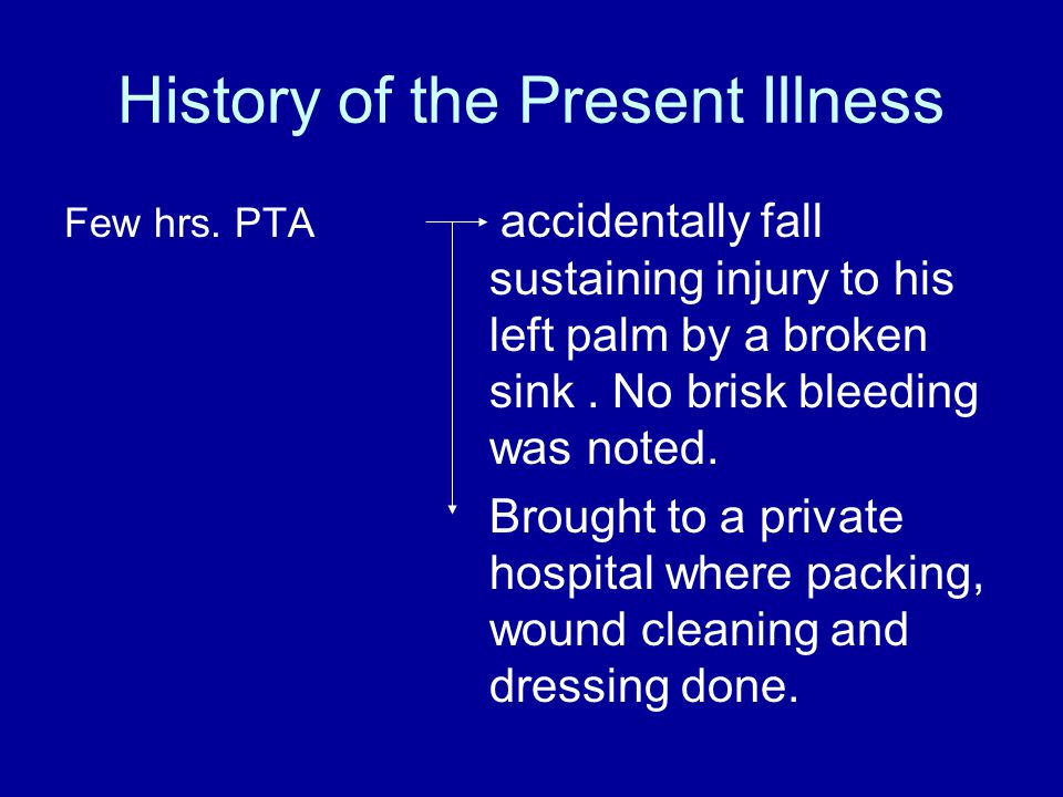 History of the Present Illness Few hrs.PTA X-ray of left hand AP-O was done revealing no fracture.