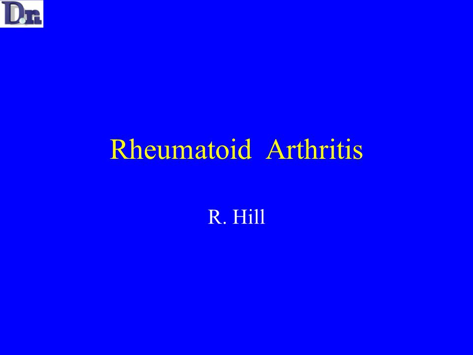 Rheumatoid Arthritis Auto-immune process of unknown aetiology causing a chronic inflammatory process Primarily affects the synovium in the Hand Epidemiology