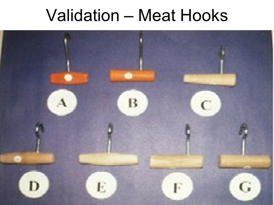 IE 552 11 Validation – Meat Hooks