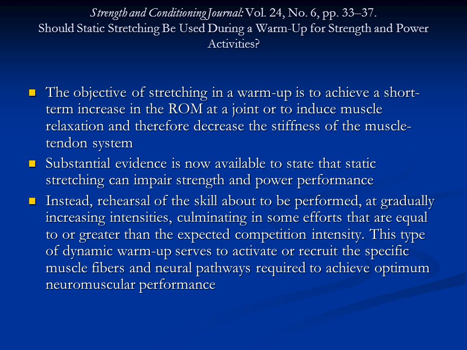 Strength and Conditioning Journal: Vol. 24, No. 6, pp.