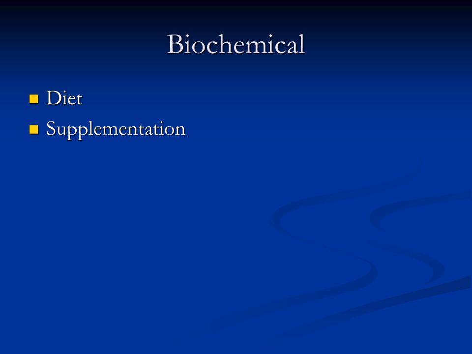 Biochemical Diet Diet Supplementation Supplementation