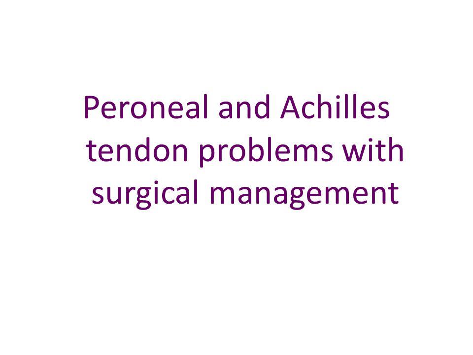 Peroneal tendon stabilisation
